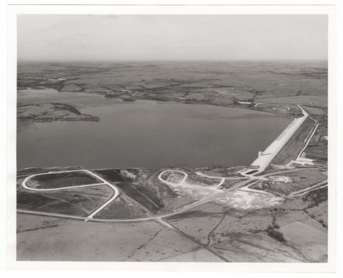 Aerial views of the Council Grove Dam and Reservoir - Page