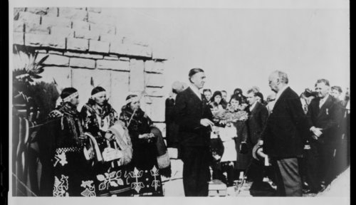 Ceremony at the Unknown Kaw Indian Monument - Page