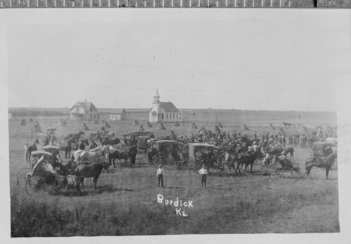 Crowd at a baseball game, Burdick, Kansas - Page