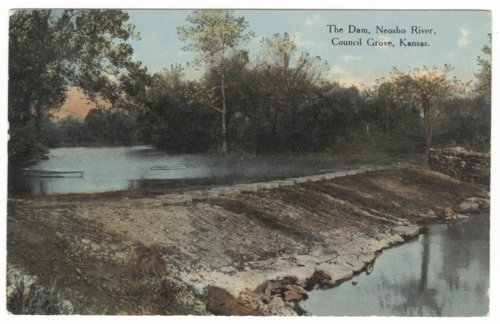 The Dam, Neosho River, Council Grove, Kansas - Page