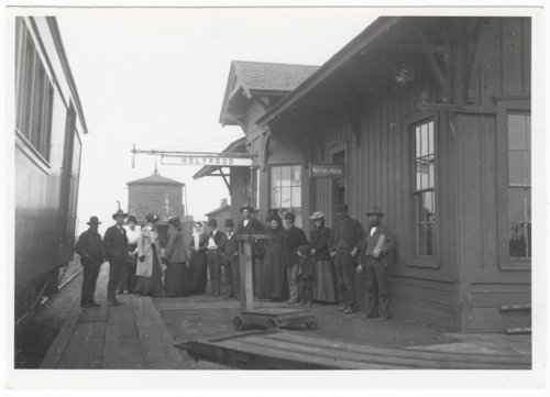 Atchison, Topeka & Santa Fe Railroad Company depot, Holyrood, Kansas - Page