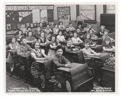 Fourth grade students and teacher at Lowman Hill School in Topeka, Kansas - Page