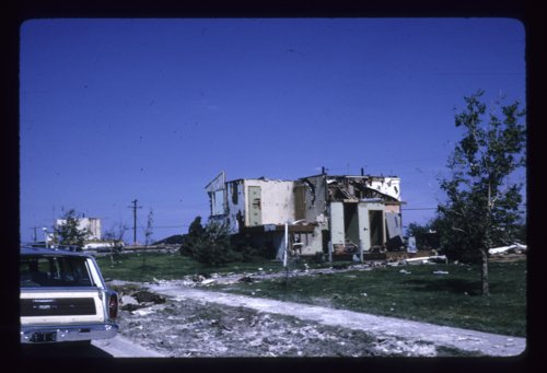 Tornado destruction in Topeka, Kansas, June 1966 - Page