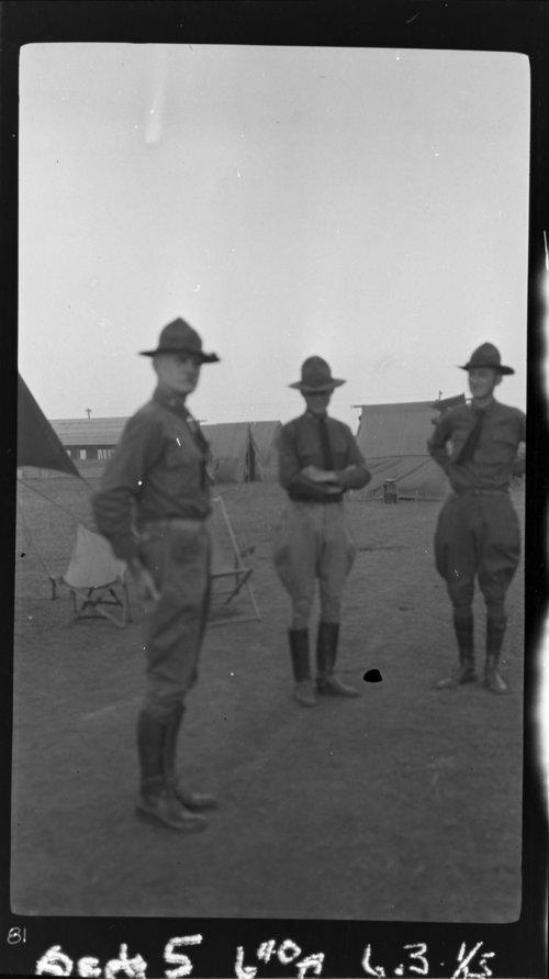 Maj. Paterson, Capt. Porter & Capt. Pomano (?) - Page
