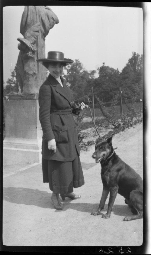 Hubert Leeds - w/dog, Bruxelles, Belgium; dog's name is Prince - Page