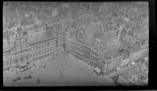 Antwerp - City Square, Aerial view. Belgium - Page
