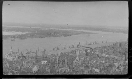 Antwerp - Harbor, Aerial view. Belgium - Page