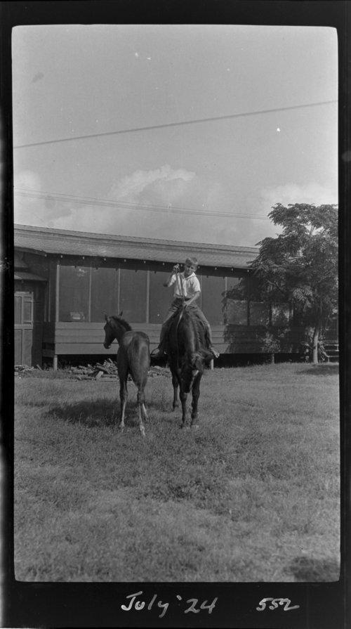 James on Breeze w/colt, Breeze = horse - Page