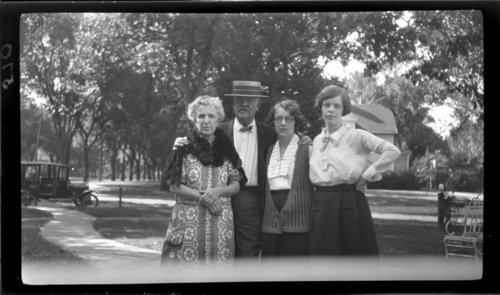 Topeka, KS; Father, mother, Juliet, and Alice, mother on left, Juliet in glasses - Page