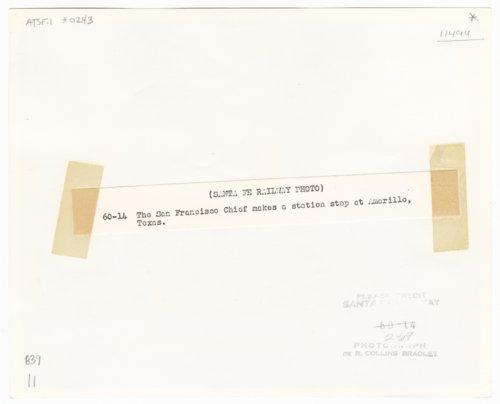Atchison, Topeka and Santa Fe Railway Company's San Francisco Chief, Amarillo, Texas, - Page