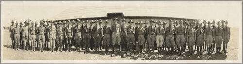 130th Field Artillery, 35th Division regimental officers at Camp Doniphan, Oklahoma - Page