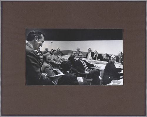 Kansas Governor Robert Frederick Bennett in a committee meeting - Page