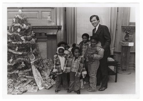 Children visiting Governor John Carlin - Page