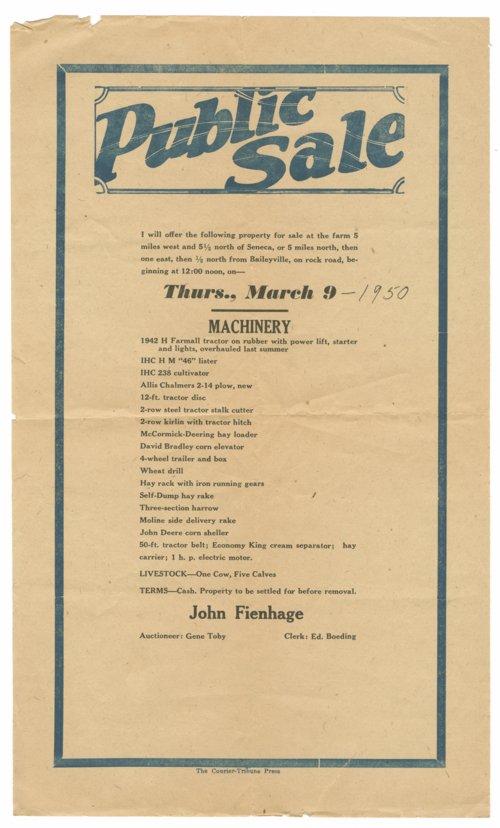 John Fienhage's public farm sale - Page