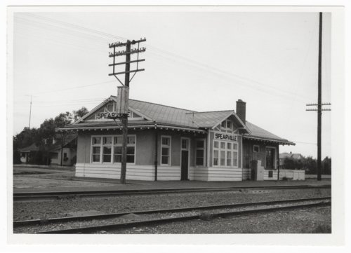 Atchison, Topeka & Santa Fe Railway Company depot, Spearville, Kansas - Page