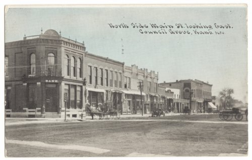 North side of Main Street in Council Grove, Kansas - Page