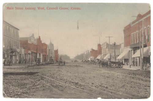 Main Street looking west in Council Grove, Kansas - Page