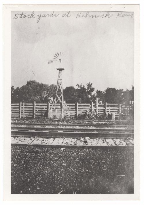 Stockyards at Helmick, Kansas - Page