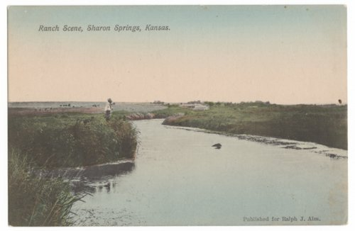 View of a stream near Sharon Springs, Kansas - Page