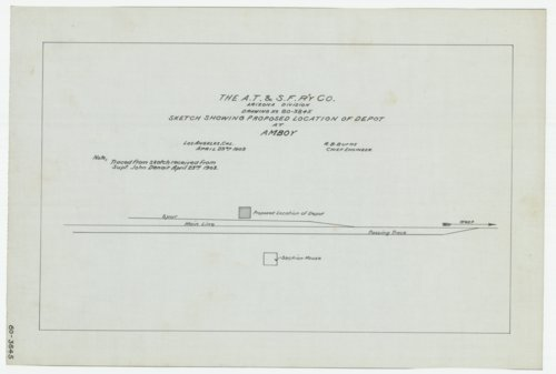 AT&SF proposed depot, Amboy, Arizona - Page