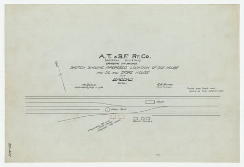 AT&SF proposed ice, oil & store house Bagdad, California - Page