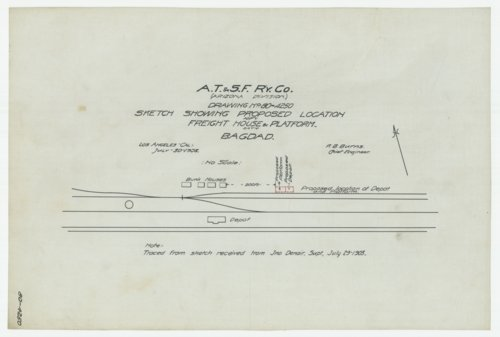 AT&SF proposed freight house & platform, Bagdad, California - Page
