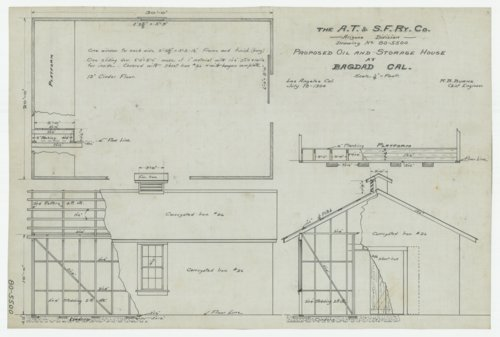 AT&SF proposed oil & storage house, Bagdad, California - Page