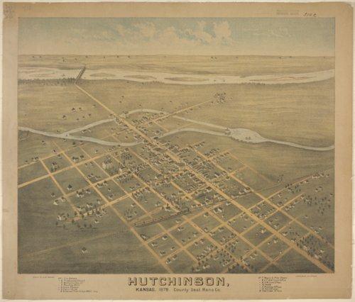 Lithograph of Hutchinson, Kansas - Page