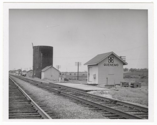 Atchison, Topeka and Santa Fe Railway Company box depot, Quenemo, Kansas - Page