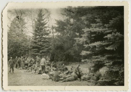Soldiers resting, possibly in Europe - Page