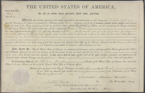 Land Patent to Francis Doran - Page