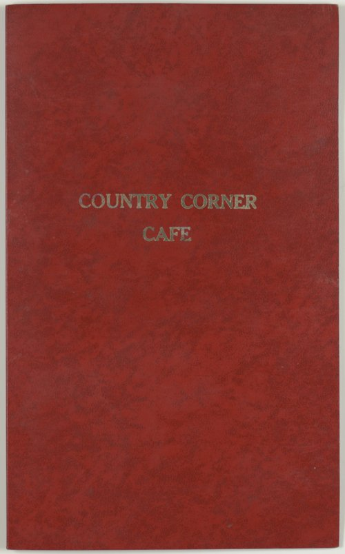 Menu from Country Corner Café in White City, Kansas - Page
