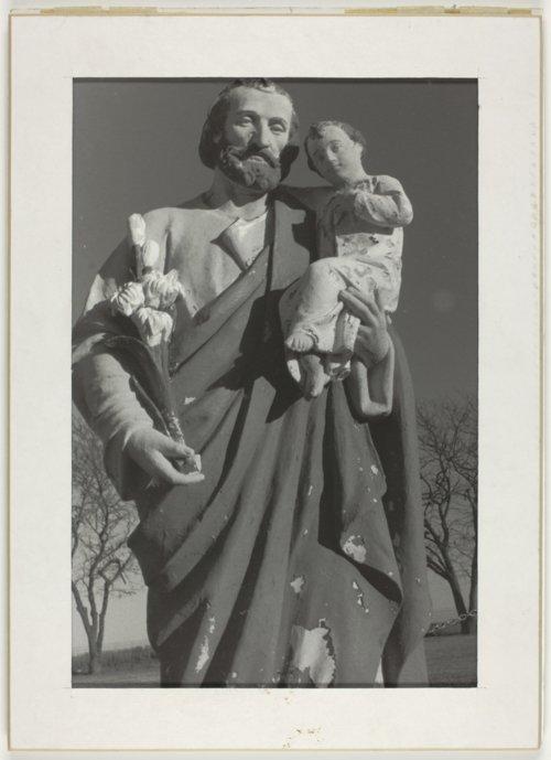Cemetery statue near Beaver, Kansas - Page