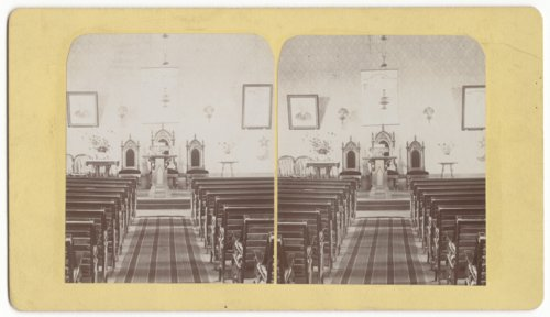 Church interior in Council Grove, Kansas - Page