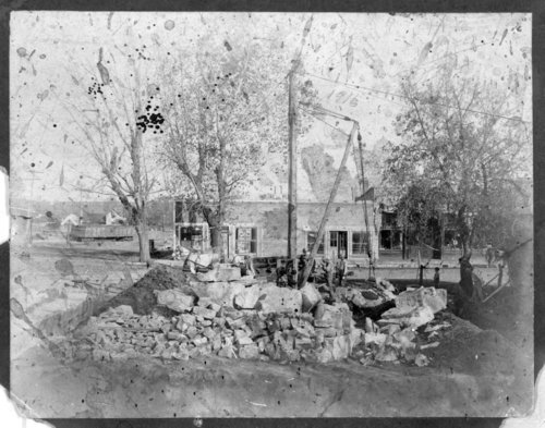 Construction of the Dunlap City Hall - Page