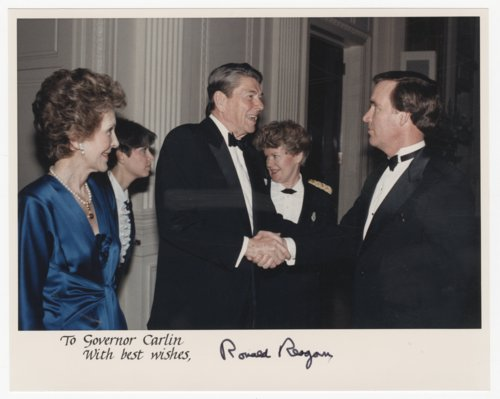 Governor John William Carlin with President Ronald Reagan - Page