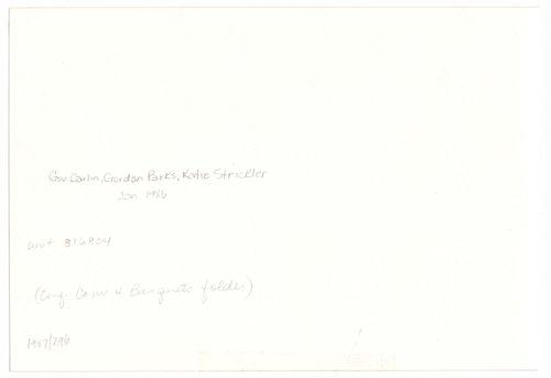Governor John William Carlin, Gordon Parks, and Katie Strickler - Page