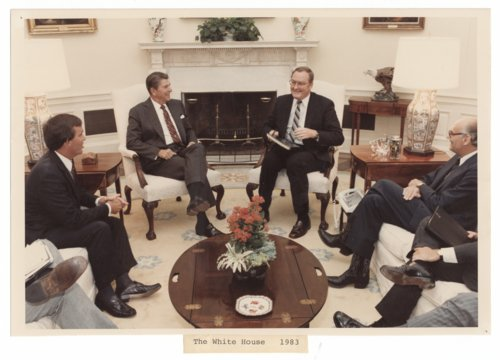 Governor John William Carlin and United States President Ronald Reagan - Page