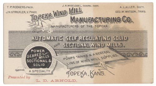 Topeka Wind Mill Manufacturing Company - Page