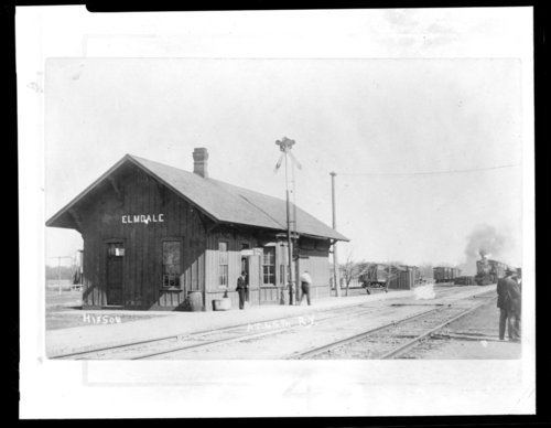Atchison, Topeka and Santa Fe Railway Company depot, Elmdale Kansas - Page