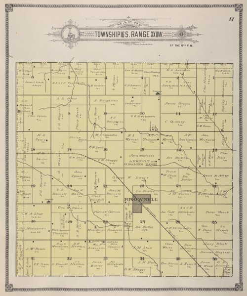 Map of  Township 6S, Range XXIIW, Ness County, Kansas - Page