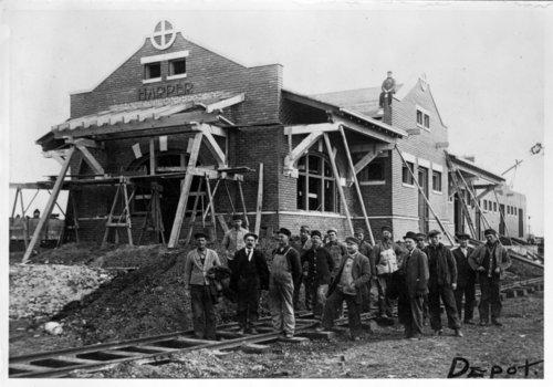 Atchison, Topeka & Santa Fe Railway Company depot Harper, Kansas - Page