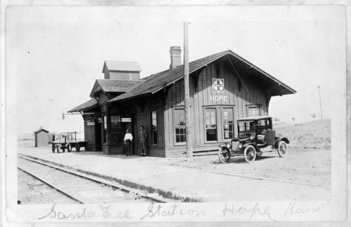 Atchison, Topeka & Santa Fe Railway Company depot, Hope, Kansas - Page