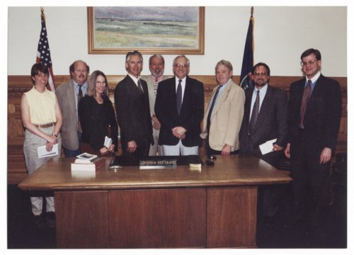 Topeka statehouse press corps with Governor William Graves - Page