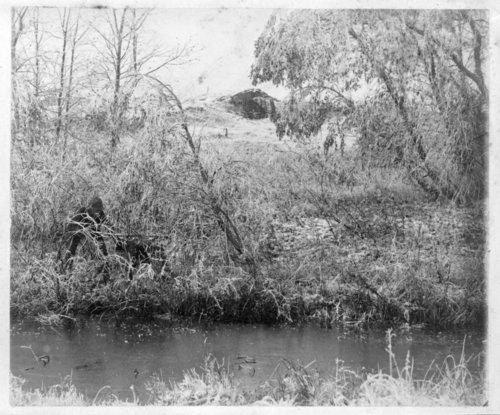 Abraham Pratt dugout, south bank of Solomon River near Studley, Sheridan County, Kansas - Page