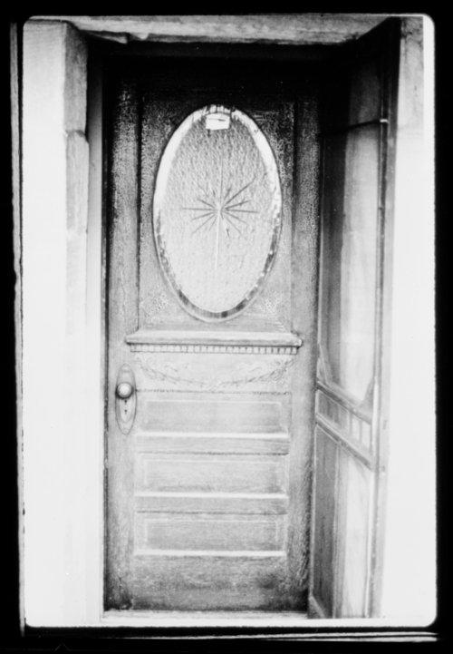 Front door, John Fenton Pratt home (Cottonwood Ranch), Studley, Sheridan County, Kansas - Page