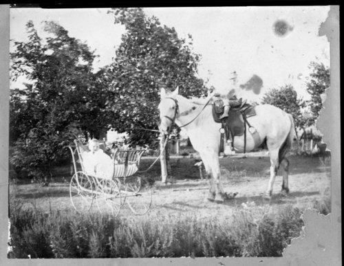 Children, John Fenton Pratt home, Studley, Sheridan County, Kansas - Page