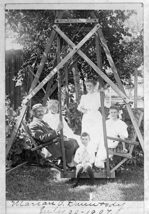 The Dunwoody family at the John Fenton Pratt home, Studley, Sheridan County, Kansas - Page