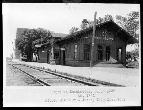 Atchison, Topeka & Santa Fe Railway Company depot, Manchester, Kansas