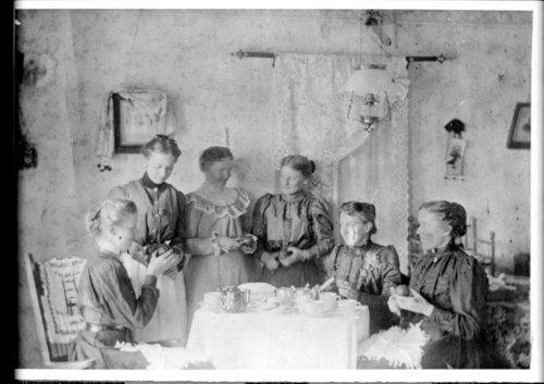Swedish women peeling fruit, Greeley County, Kansas - Page